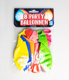 Party Ballonnen - 10 jaar verpakt per 8 stuks