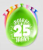 Party Ballonnen - 25 jaar verpakt per 8 stuks