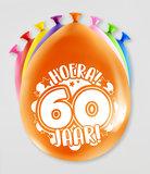Party Ballonnen  60 jaar  verpakt per 8 stuks