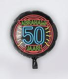 Neon Foil balloon - Abraham 50