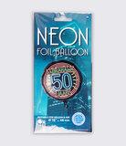 Neon Foil balloon - Abraham 50_