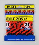 Feestelijke Party tape / Afzetlint 21 jaar
