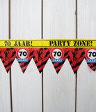 Feestelijke Party tape / Afzetlint 70 jaar
