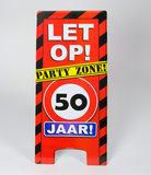 Warning Sign feest- 50 jaar_