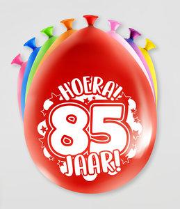 Party Ballonnen  85 jaar  verpakt per 8 stuks