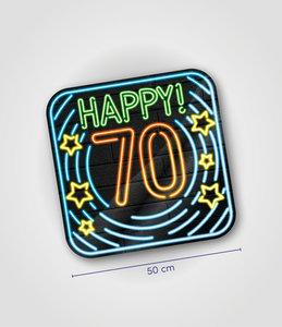 Neon decoration signs - 70 jaar