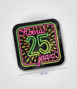 Neon onderzetters - 25 jaar