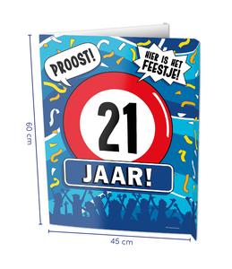 Window signs - 21 jaar