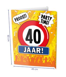 Window signs - 40 jaar