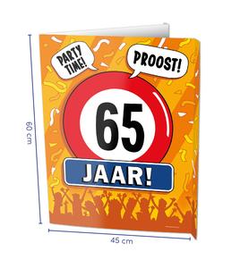 Window signs - 65 jaar
