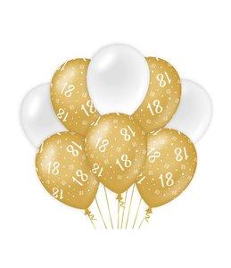 Balloons Gold/white - 18