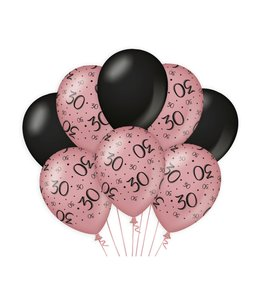 Decoration balloons Rose/black - 30